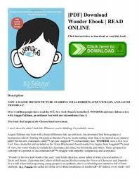 pdf wonder ebook read