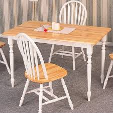 kitchen table. Perfect Table Coaster Damen Rectangular Dining Table In Warm Natural And White Wood Throughout Kitchen