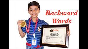 Reverse Words Backward Words Aarush Jain Young Indian Talent Backward Pronunciation