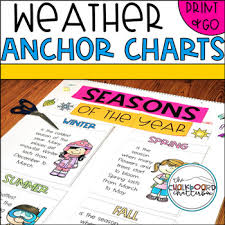 Weather Anchor Chart Weather And Seasons Anchor Charts