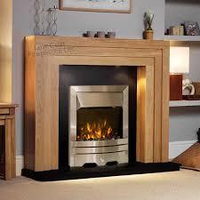 camberley electric fireplace suite in clear oak with granite oak eko fire thumbnail