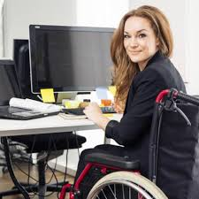 Image result for woman in wheelchair work computer