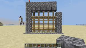 minecraft gate. Delighful Minecraft Easiest Way To Build Piston PortcullisRedstone Castle Gate Inside Minecraft Gate I