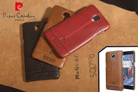 details about pierre cardin for one plus 3 case oneplus 3 genuine leather cover hard back case