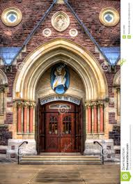 Entrance Roman Catholic Church (Cathedral) Stock Photo - Image ...
