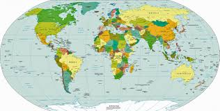 political world map  world map  continents countries and