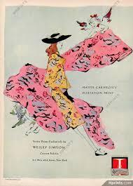 Wesley Simpson (Fabric) 1944 Marcel Vertès — Advertisements