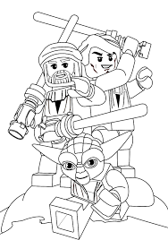 Small Picture Lego Star Wars Coloring Pages Star Wars Yoda is the coolest one