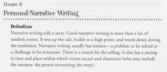 definition of a narrative essay co definition