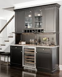 under cabinet ice maker. Home Bar Ice Maker With Traditional And Accessories Dark Floor Glass Front Cabinets Serving Tray Under Cabinet Lighting White Kitchen I
