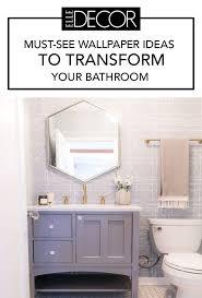 Image Design Elle Decor Best Bathroom Wallpaper Ideas 17 Beautiful Bathroom Wall Coverings