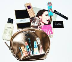 the makeup bag is really pretty and i will definitely use it i admit i rarely if ever use the makeup bags i ve received in my previous beauty