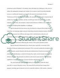 preparing principals for leadership in special education essay preparing principals for leadership in special education essay example
