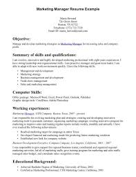 Sales And Marketing Resume Objective Career Objective Resume Examples Marketing Objectives In Resumes 24