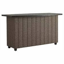 wicker bar height dining table: add to wishlist  bb wt silo add to wishlist