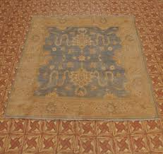 pastel blue pale gold 8x8 fine square rug hand knotted 8x8 square wool area rugs