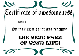 Certificate Of Awesomeness Template Certificate Of Awesomeness Template Free Printable Retirement