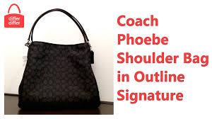 Coach Phoebe Shoulder Bag in Outline Signature 36424