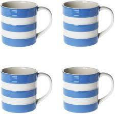 Freemason white coffee mug cup with blue masonic freemasonry square and compass. Amazon Com Cornishware Blue And White Stripe Set Of 4 Espresso Cups Mugs 6oz Espresso Cups