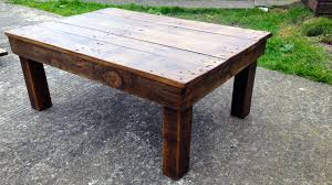 picture of making a coffee table from reclaimed pallet wood