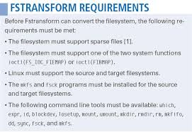 Converting Filesystems with Fstransform » Linux Magazine