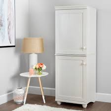 south shore hopedale white wash door narrow storage cabinet