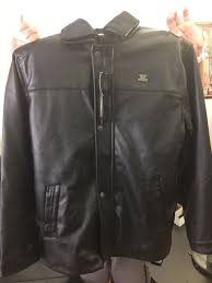 rosso black and gold successful collection authentic leather jacket