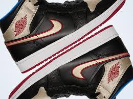 Air Jordan 1 Mid Black Gold Red Blue Sneakernews Com