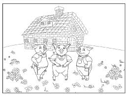Coloring Pages - The Three Little Pigs 11