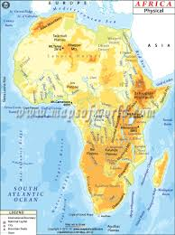 Africa Physical Map | Physical Map of Africa | Geography map, Africa map,  Desert map
