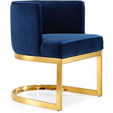 blue gold accent chairs