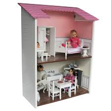 Two Story Doll House Sized For 18 Inch Dolls