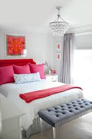 red pink gray bedroom color scheme