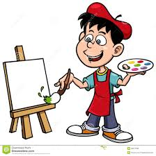 girls painting free clipart