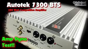 1992 autotek 7300bts amp dyno test old school
