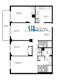 three bedroom two bathroom 1760 sq ft winston towers floor plan to