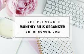 Ultimate Free Monthly Bill Payment Organizer