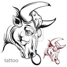 Obraz Býčí Hlava Tetování