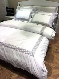 hotel like bedding sets cotton hotel bedding set king queen size bed linen white luxury embroidery