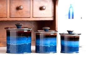 blue canister set straight cobalt glass canisters oggi
