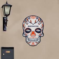 denver broncos skull nfl outdoor wall decal fathead