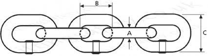 Grade 8 80 Lifting Chain Chain Diameter 7mm To 32mm Wll