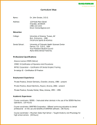 Dental School Resume Sample 5 How To Write Sample Template Monster