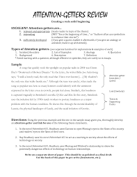 attention getters for essays examples com brilliant ideas of attention getters for essays examples fabulous attention ters for literary essays on hamlet