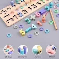 Bộ đồ chơi trí tuệ cho bé học chữ số tập đếm kèm bộ câu cá Đồ chơi giáo dục  sớm cho trẻ từ 1 - 6 tuổi