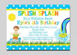Print Out Birthday Invitations Boys Pool Waterslide Birthday Invitation Waterslide 82
