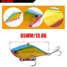 Long Cast Hard Fishing Lure 6 5cm 13 8g Bait Vib Hook Sinking Vibra Laser Reflection Bottom Fish Bass Crank Bait Pesca Wobbler