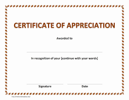 certificate of recognition templates army certificate of appreciation template sports flyers templates free
