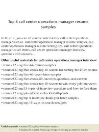 sample call center manager resume top 8 call center operations manager  resume samples in this file .