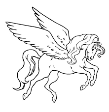 630x648 flying unicorn coloring pages